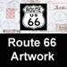 Route 66 Postmark Art