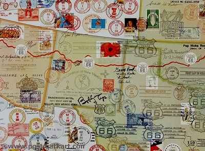 Route 66 PostmarkArt Closeup