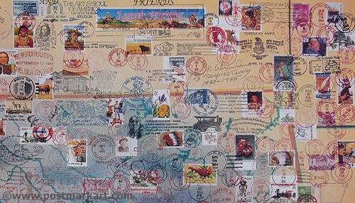 Oklahoma PostmarkArt Closeup
